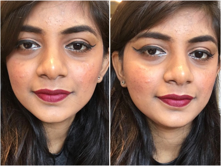 Nykaa Matteilicious Lip Crayon Perfect Plum Review, Swatches MBF Makeup Look