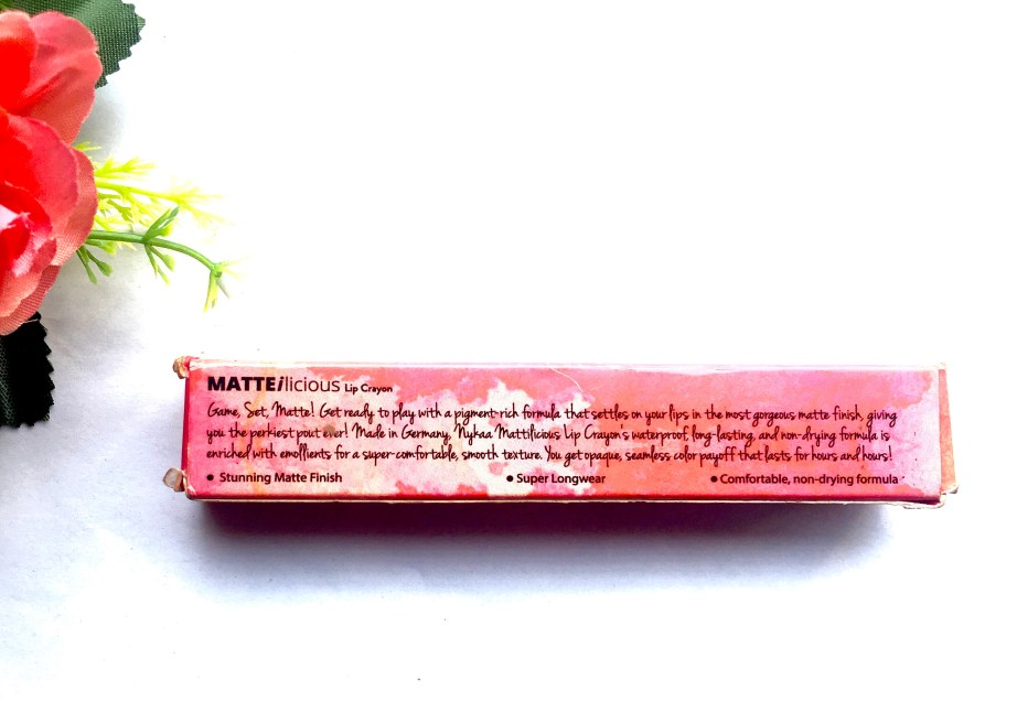 Nykaa Matteilicious Lip Crayon Pink On Fleek Review, Swatches Info