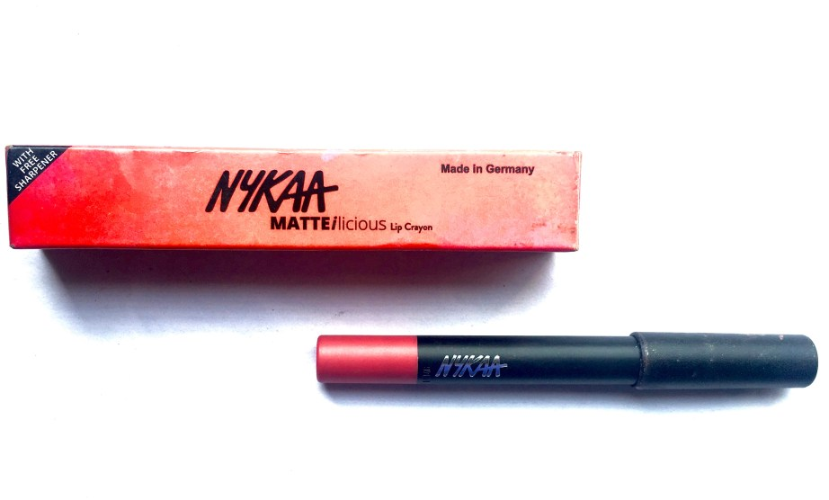 Nykaa Matteilicious Lip Crayon Pink On Fleek Review, Swatches MBF