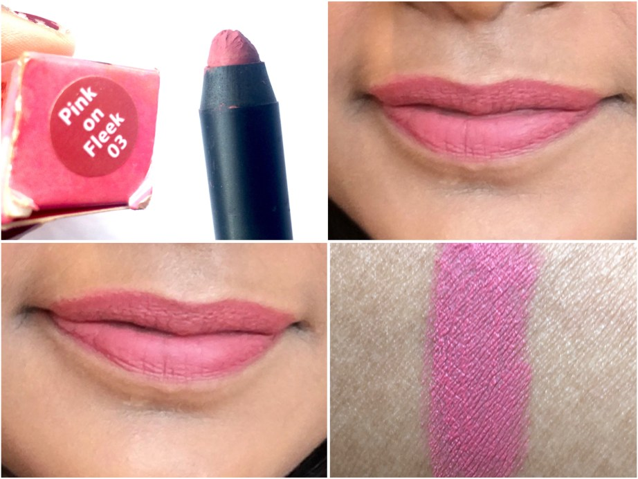 Nykaa Matteilicious Lip Crayon Pink On Fleek Review, Swatches On Lips MBF Blog