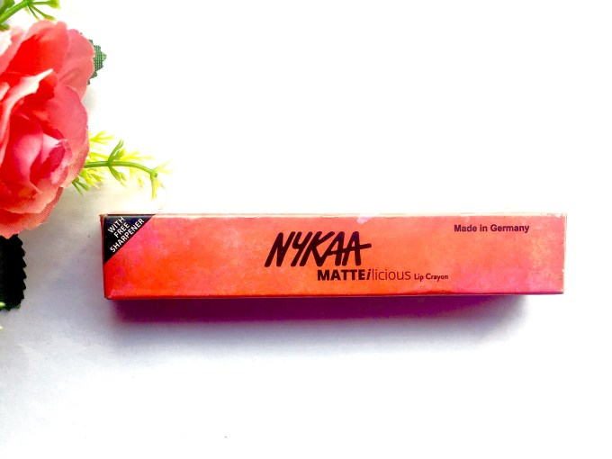 Nykaa Matteilicious Lip Crayon Pink On Fleek Review, Swatches front