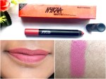 Nykaa Matteilicious Lip Crayon Pink On Fleek Review, Swatches