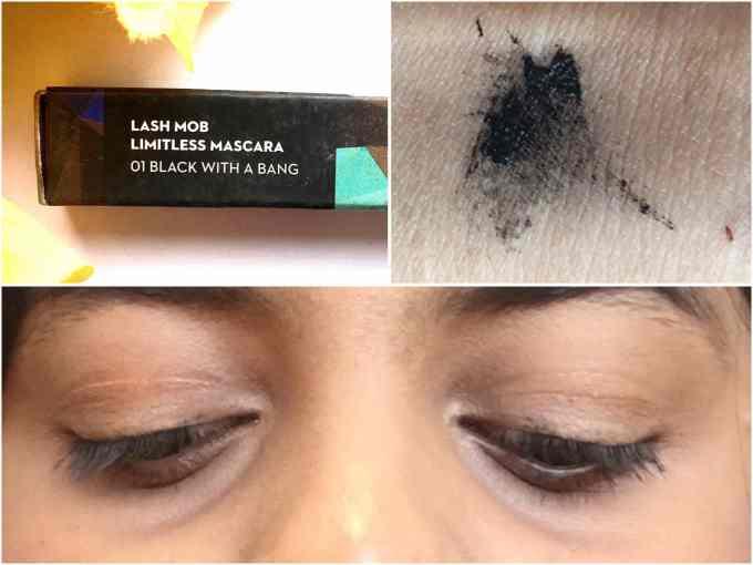 SUGAR Lash Mob Limitless Mascara Black With A Bang Review, Swatches Indian Makeup Beauty Blog