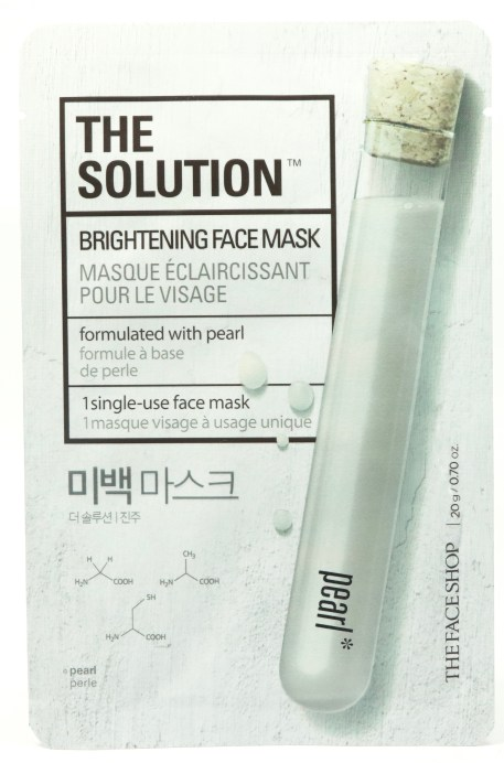 The Face Shop The Solution Brightening Face Mask Review Front