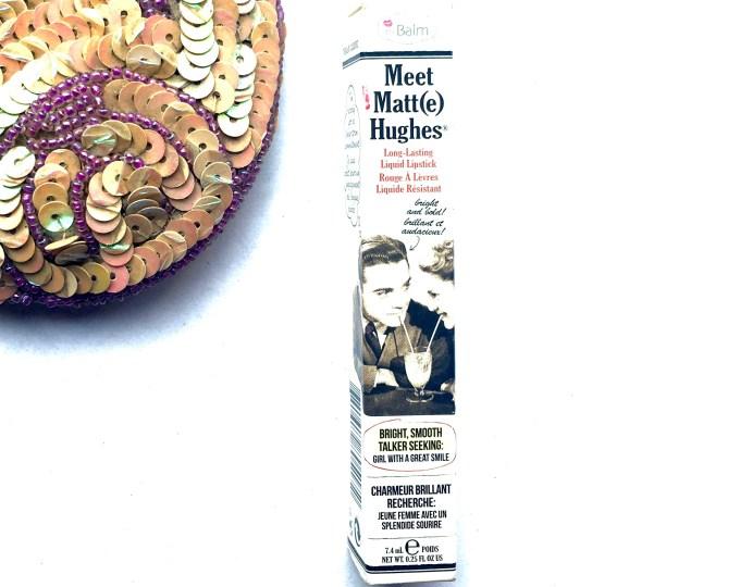theBalm Meet Matte Hughes Long Lasting Liquid Lipstick Loyal Review, Swatches Box
