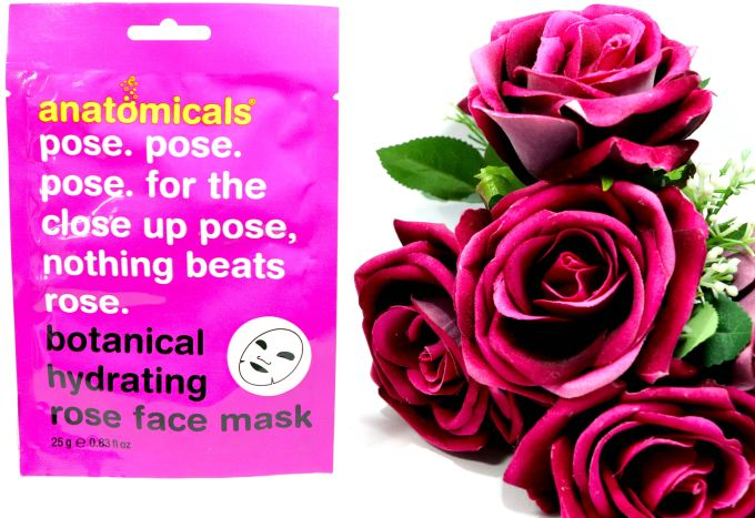 Anatomicals Botanical Hydrating Rose Face Mask Cloth Review 1