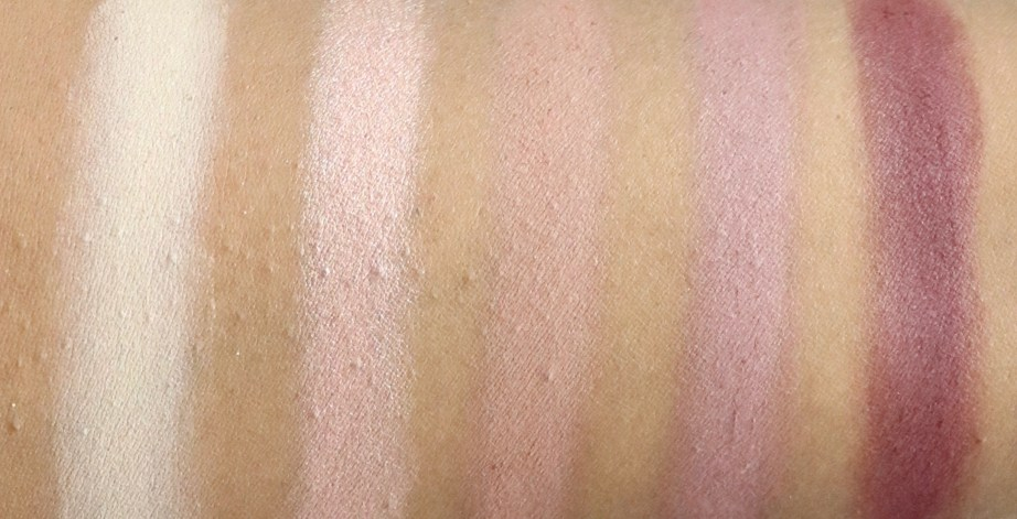 BH Cosmetics Carli Bybel Eyeshadow & Highlighter Palette Review, Swatches 1st row