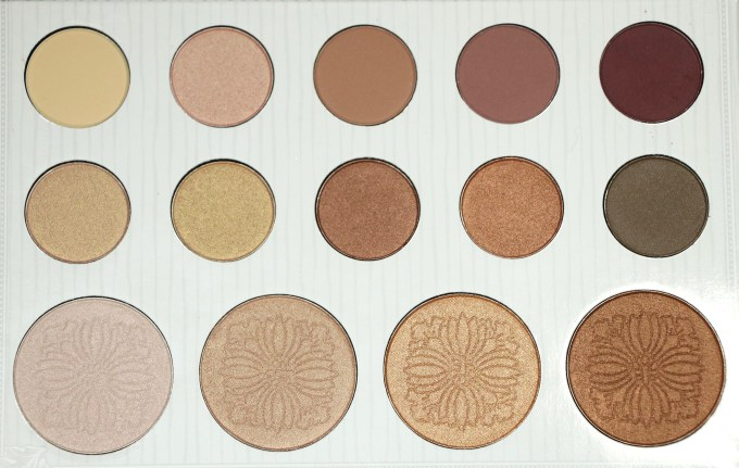 BH Cosmetics Carli Bybel Eyeshadow & Highlighter Palette Review, Swatches Closeup
