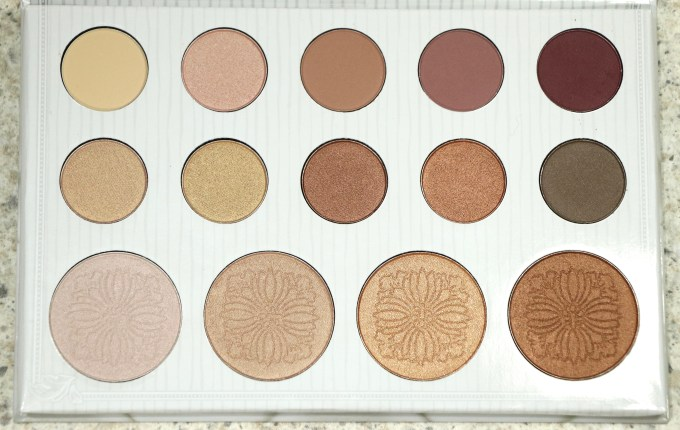 BH Cosmetics Carli Bybel Eyeshadow & Highlighter Palette Review, Swatches MBF Blog