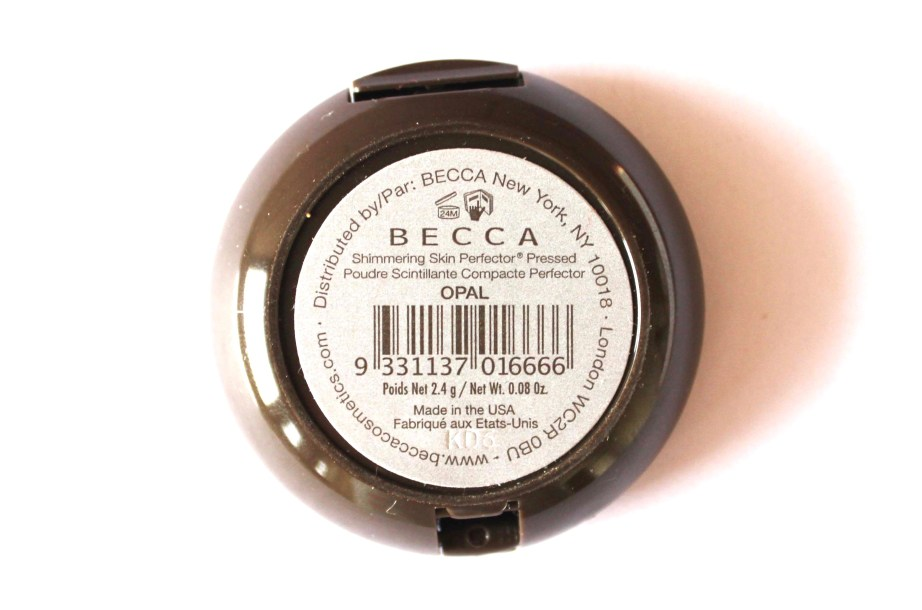 Becca Opal Shimmering Skin Perfector Pressed Highlighter Review, Swatches back