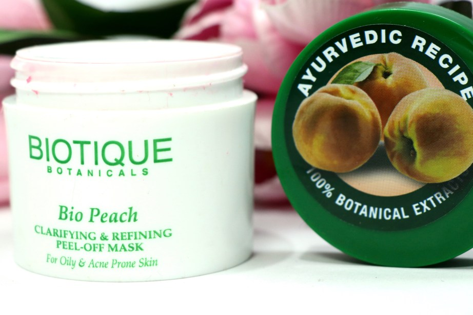 Biotique Bio Peach Clarifying & Refining Peel Off Mask Review, Demo 1