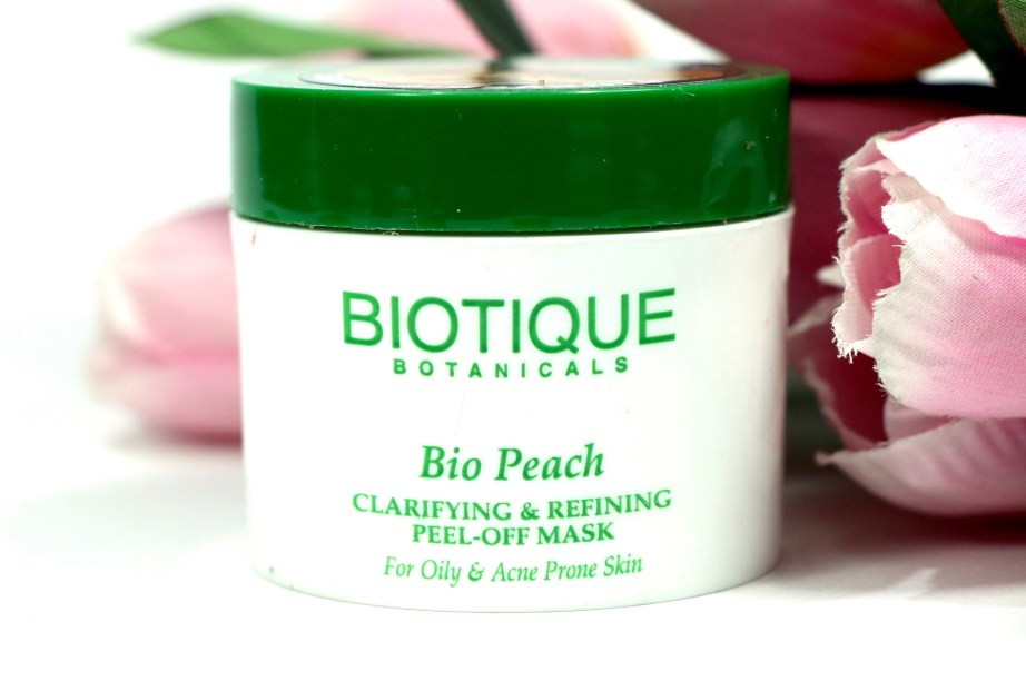 Biotique Bio Peach Clarifying & Refining Peel Off Mask Review, Demo MBF