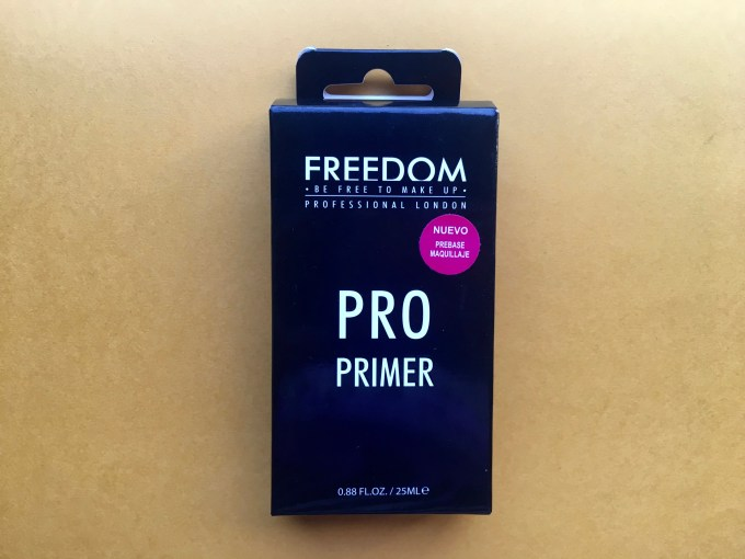 Freedom Pro Makeup Primer Review, Swatches Front