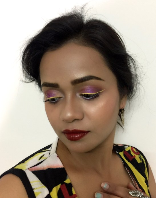 L'Oreal Color Riche Gold Obsession Lipstick Mocha Gold by Eva Review, Swatches MBF Makeup Look 2
