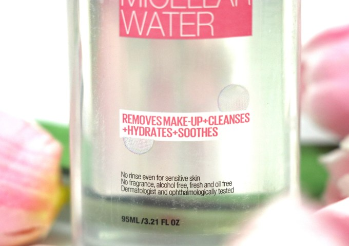 Maybelline 4 in 1 Micellar Water Review, Demo