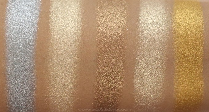 Morphe Pressed Pigments Swatches Smokin Mirrors, Mimosa Sunday, Socially Broken, Hollywood Vixen, Tragic fashion skin