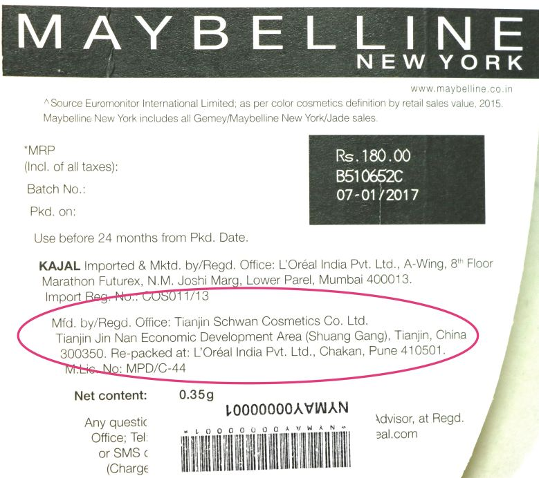 New Maybelline Colossal Kajal 24 Hr Review, Swatches, Demo Manufacturer