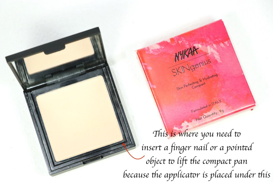 Nykaa SKINgenius Skin Perfecting & Hydrating Compact Review, Shades, Swatches MBF