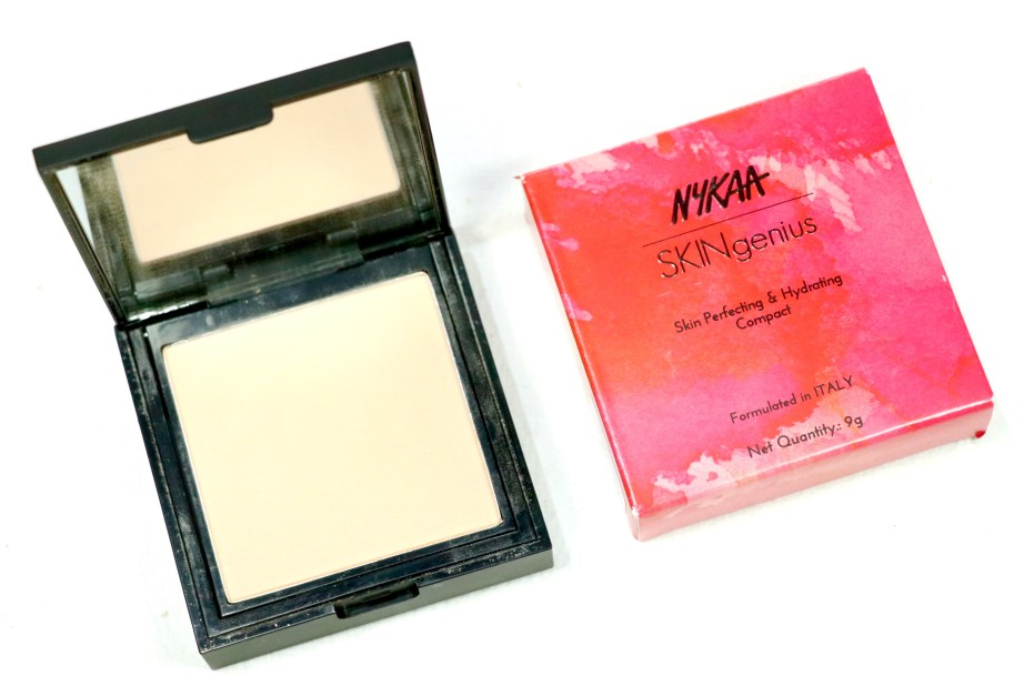 Nykaa SKINgenius Skin Perfecting & Hydrating Compact Review, Swatches