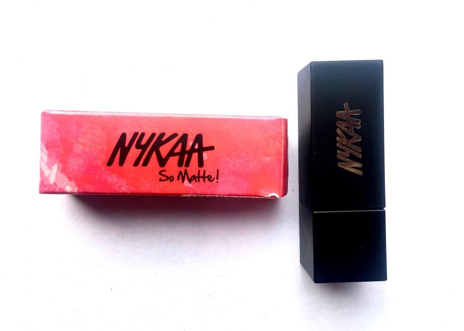 Nykaa So Matte Nude Lipstick Bon Bon 26M Review, Swatches