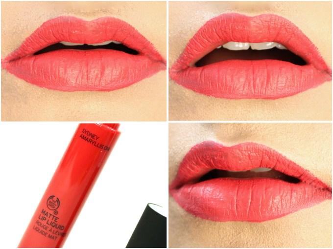 The Body Shop Matte Lip Liquid Lipstick Sydney Amaryllis Review, Swatches On Lips MBF Blog