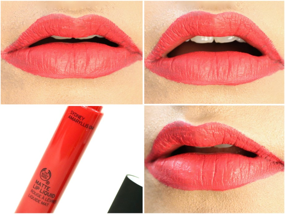 The Body Shop Matte Lip Liquid Lipstick Sydney Amaryllis Review, Swatches On Lips MBF Blog