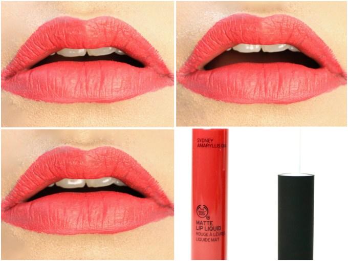 The Body Shop Matte Lip Liquid Lipstick Sydney Amaryllis Review, Swatches On Lips