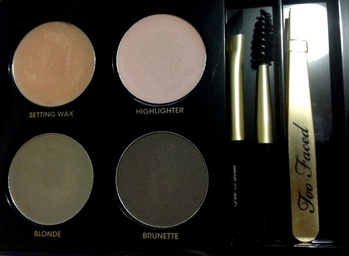 Too Faced Brow Envy Brow Shaping & Defining Kit Review, Swatches Closeup
