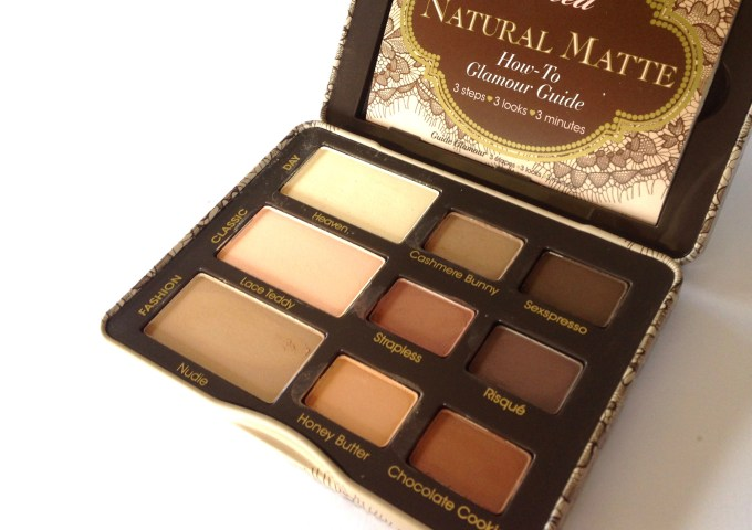 Too Faced Natural Matte Eyeshadow Palette Review, Swatches Focus