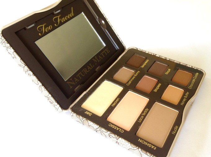 Too Faced Natural Matte Eyeshadow Palette Review, Swatches MBF Blog