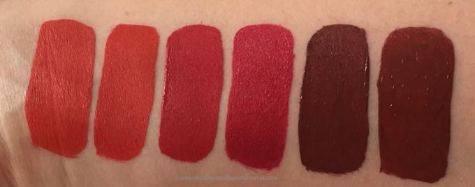 All Jeffree Star Velour Liquid Lipsticks Shades Review, Swatches Anna Nicole, Checkmate, Redrum, Rich Blood, Designer Blood, Unicorn Blood MBF