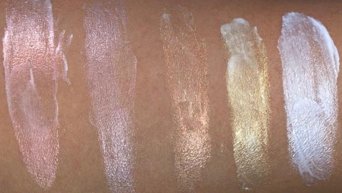 All MAC Strobe Cream Shades Review, Swatches Redlite, Pinklite, Peachlite, Goldlite, Silverlite MBF Blog
