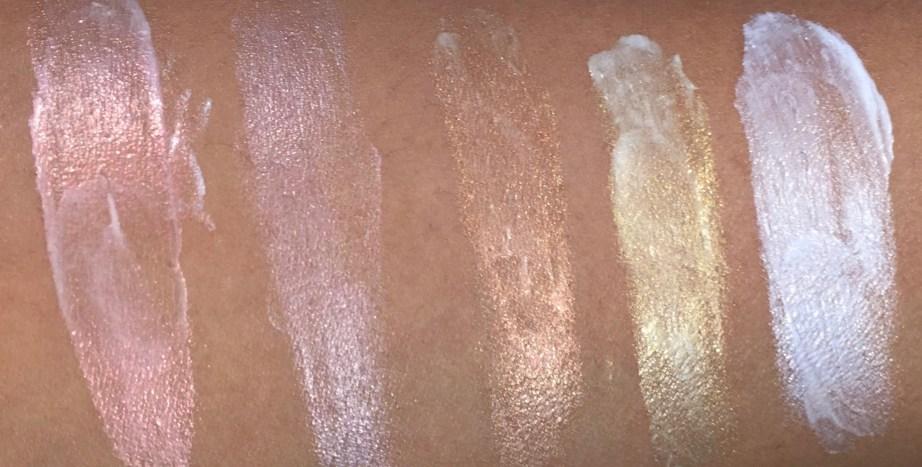 All MAC Strobe Cream Shades Review, Swatches Redlite, Pinklite, Peachlite, Goldlite, Silverlite MBF