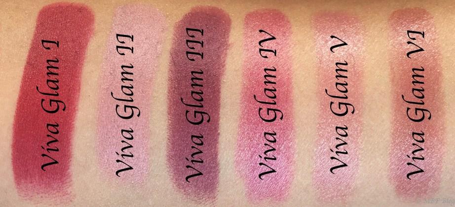 All MAC Viva Glam Lipsticks Shades Review, Swatches Viva Glam I, Viva Glam II, Viva Glam III, Viva Glam IV, Viva Glam V, Viva Glam VI