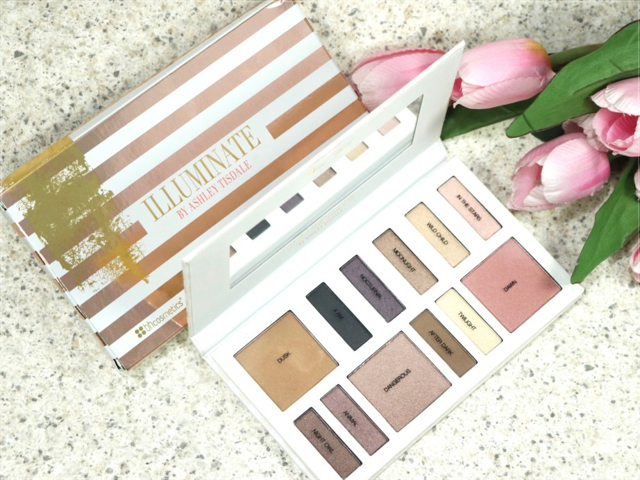 BH Cosmetics Illuminate Ashley Tisdale Night Goddess Palette Review, Swatches open