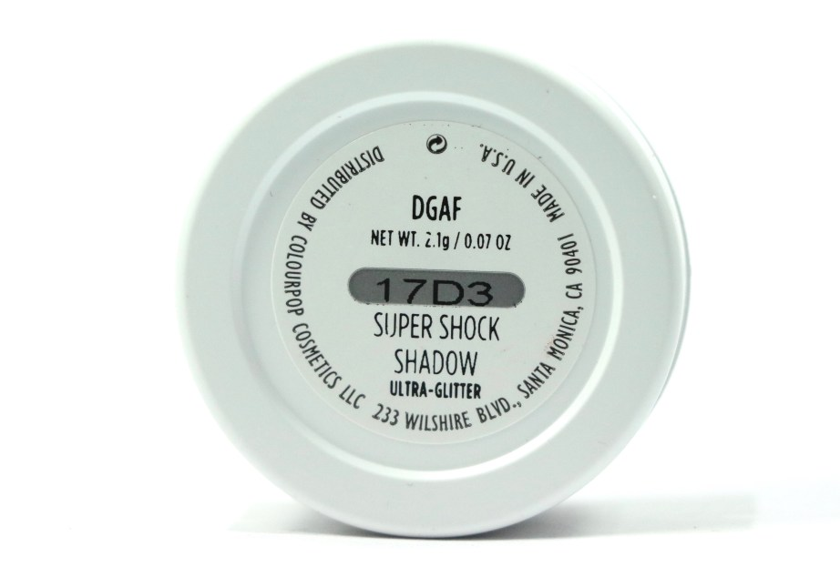 ColourPop DGAF Super Shock Shadow Review, Swatches details