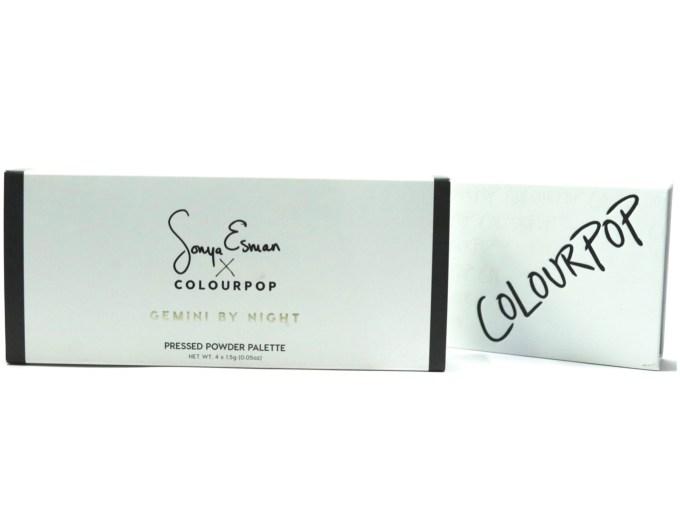 ColourPop Sonya Esman Gemini by Night Pressed Powder Shadow Palette Review, Swatches unpacking