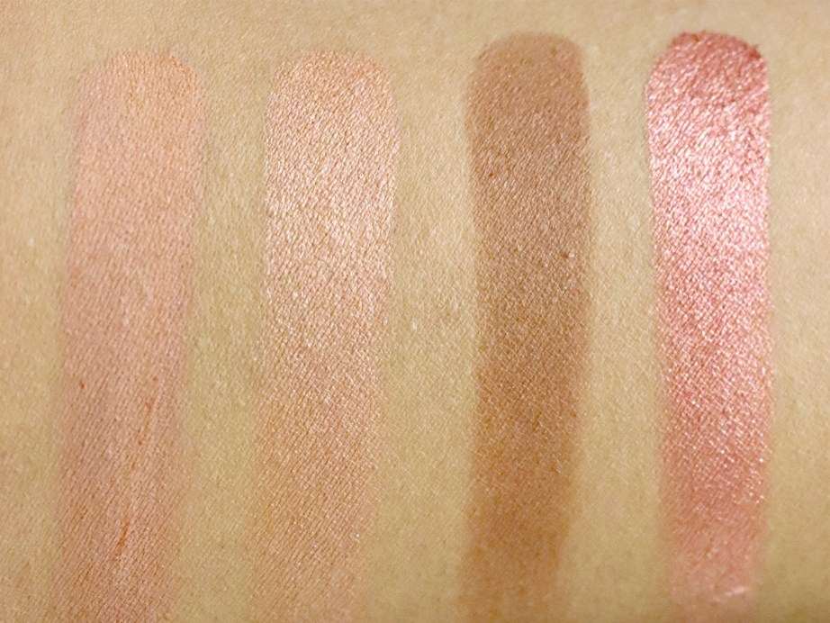 ColourPop Sonya Esman Gemini by Night Pressed Powder Shadow Palette golden gate bridge hidden hills manhattan coffee run moscow sunrise Review, Swatches L 2 R