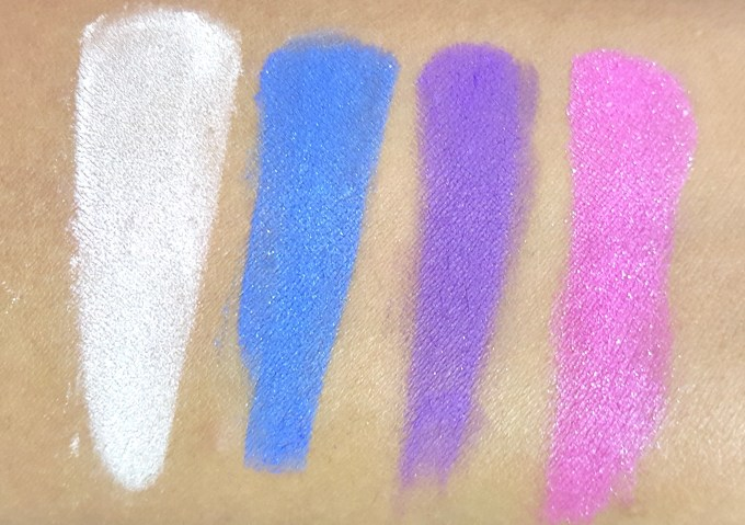 ELF Punk Funk Brightening Eye Shadow Quad Review, Swatches skin