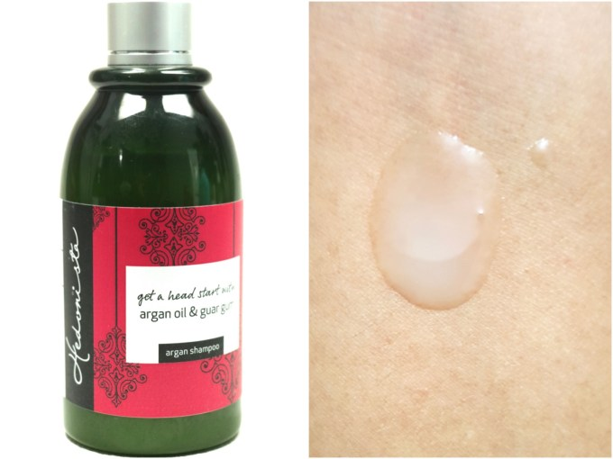 Hedonista Argan Shampoo Review Swatch