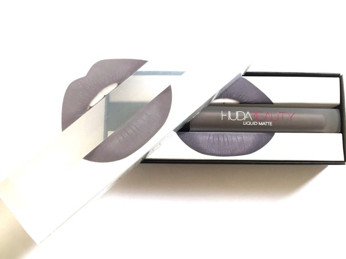 Huda Beauty Liquid Matte Lipstick Silver Fox Review, Swatches MBF Blog