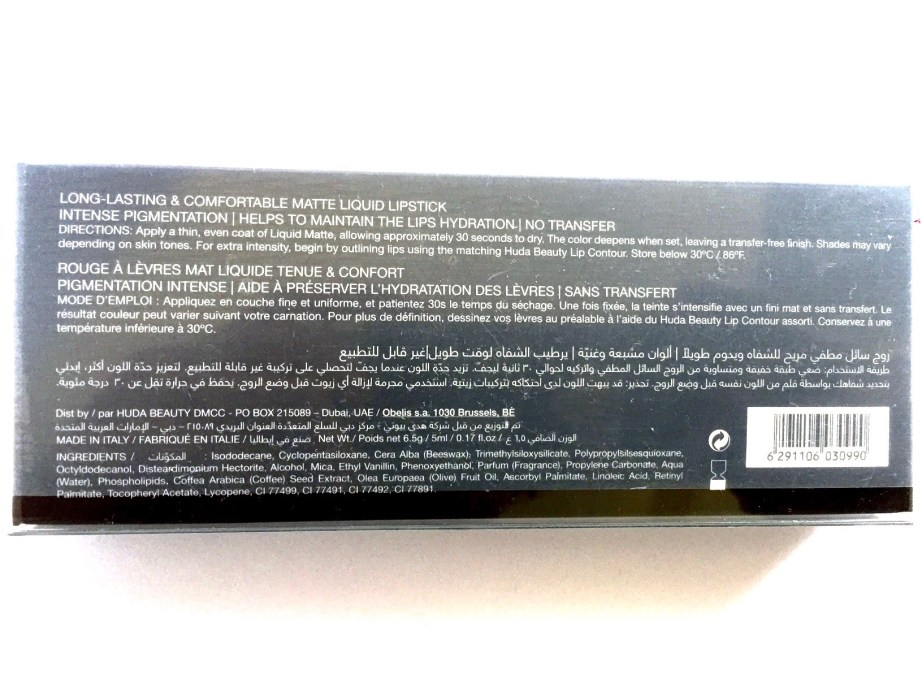 Huda Beauty Liquid Matte Lipstick SilverFox Review, Swatches Details
