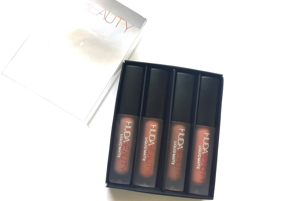Huda Beauty The Nude Edition Liquid Matte Minis Lipstick Set Review, Swatches Open