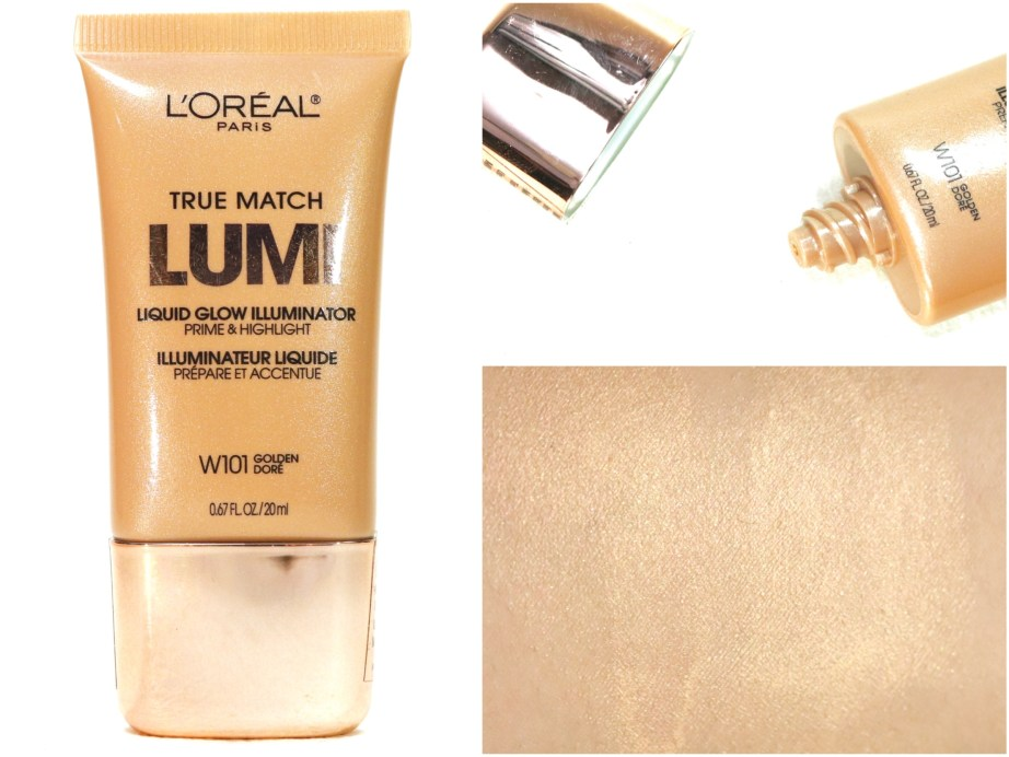 L'Oreal True Match Lumi Liquid Glow Illuminator Highlighter Review, Swatches