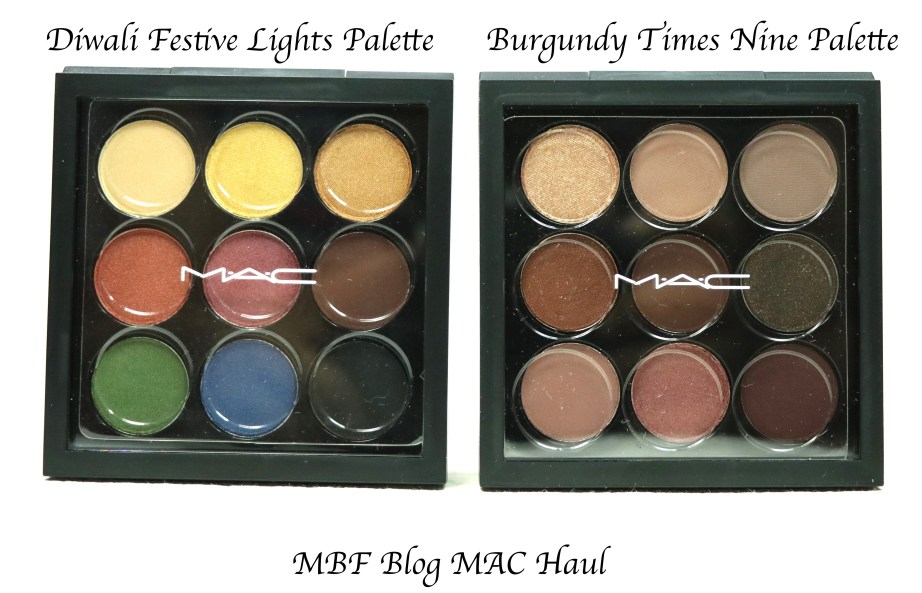 MAC Diwali Light Festival Eyeshadow Palette MAC Burgundy Times Nine Eyeshadow Palette