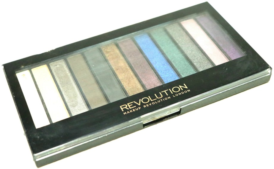 Makeup Revolution Hot Smoked Redemption Palette Review, Swatches packaging