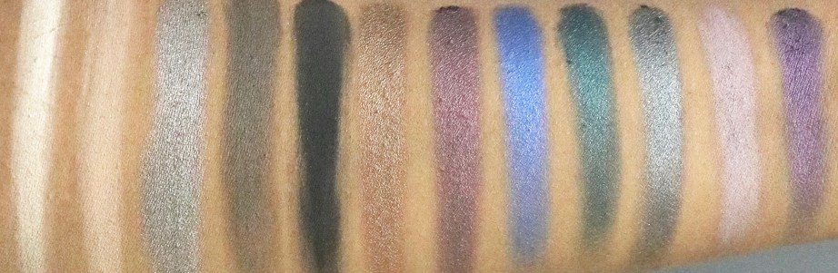 Makeup Revolution Hot Smoked Redemption Palette Review, Swatches skin