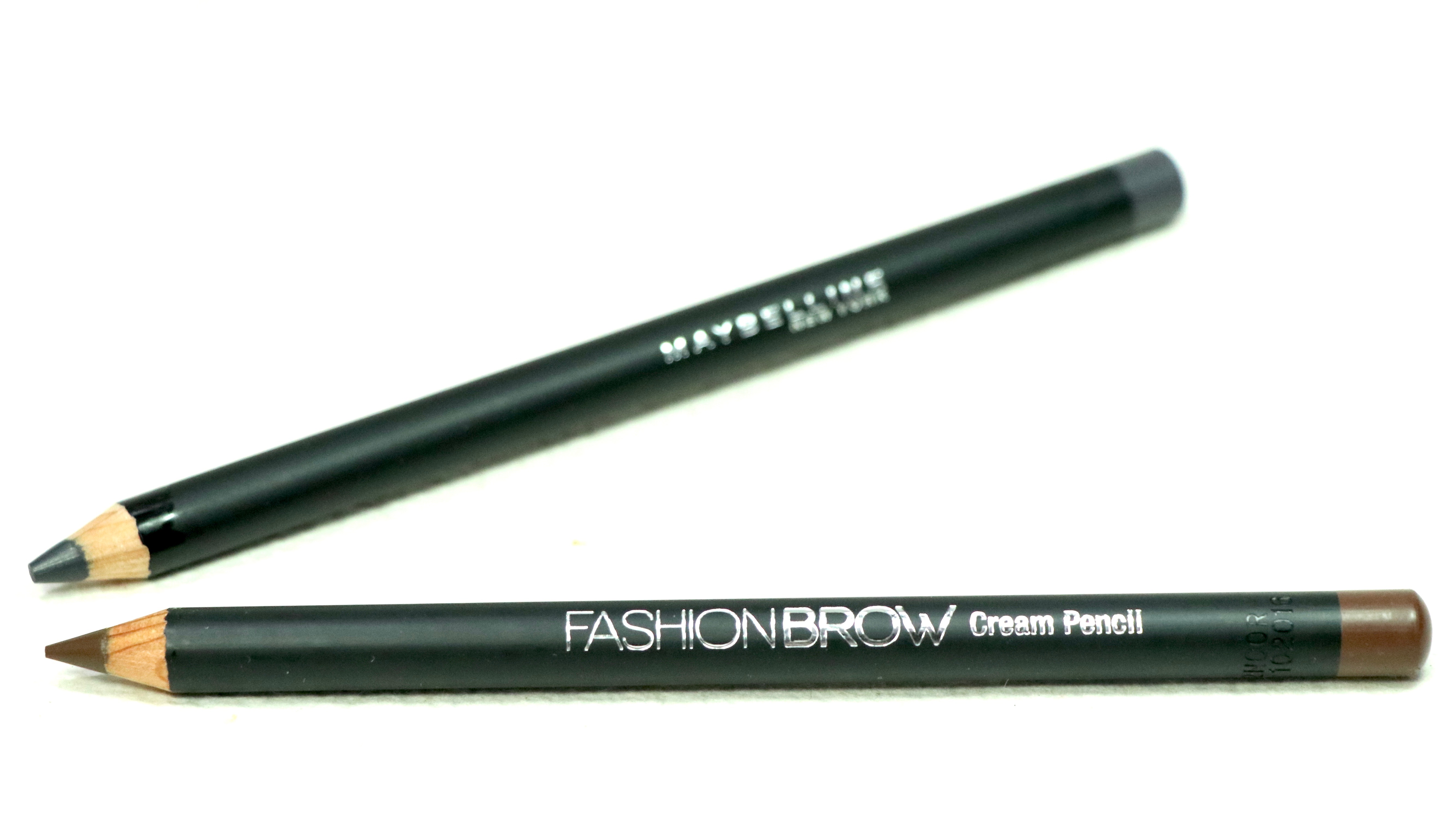 Maybelline Fashion Brow Cream Pencil Brown Dark Gray Review Swatches