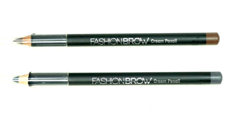 Maybelline Fashion Brow Cream Pencil Brown & Dark Gray Review, Swatches