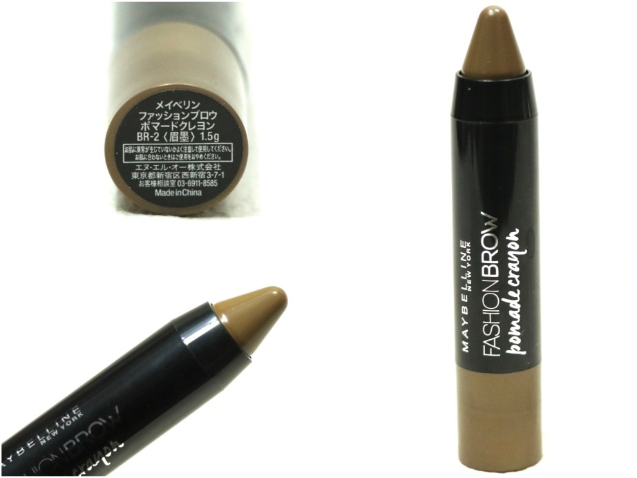 Maybelline Fashion Brow Pomade Crayon Review, Swatches